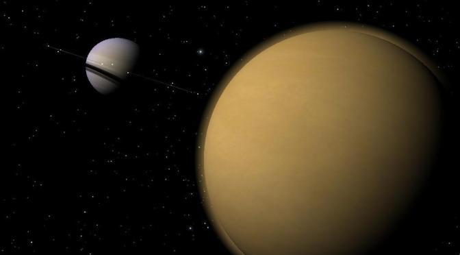 Pale Yellow Dot, Saturn's Biggest Moon