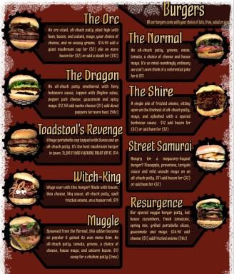 afk tavern menu