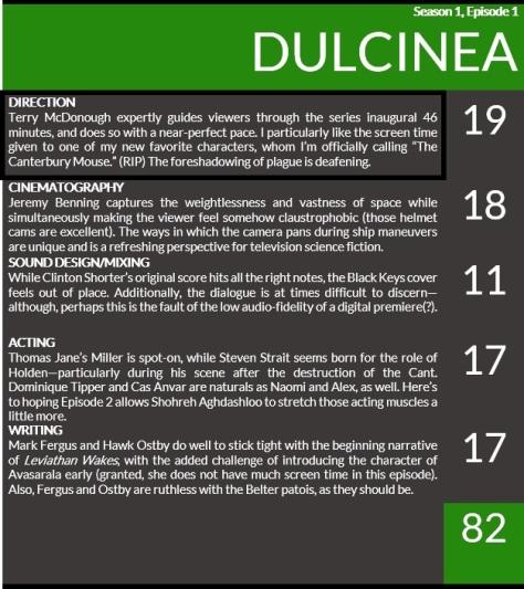 expanse dulcinea scorecard